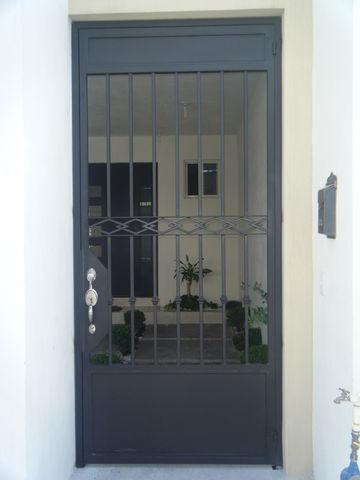 Puerta4 herreria moctezuma - Puertas de entrada con cristal ...